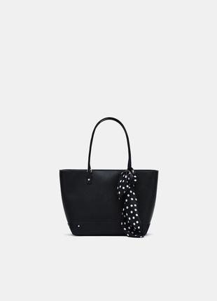 Черная сумка с платком bershka