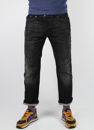 Черные джинсы diesel  darron w32 l39 slim