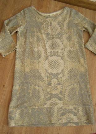 Платье , удлиненный свитшот zara