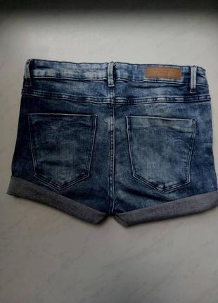 Короткие светлые джинсовые шорты zara trafaluc trf высокая посадка