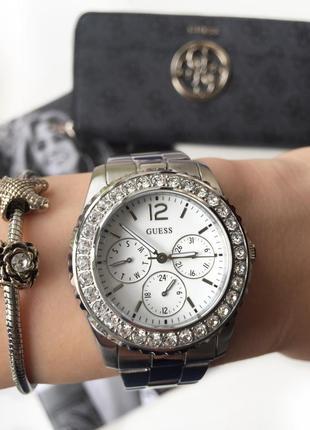 Очень красивые женские часы guess со стразами! оригинал из сша!