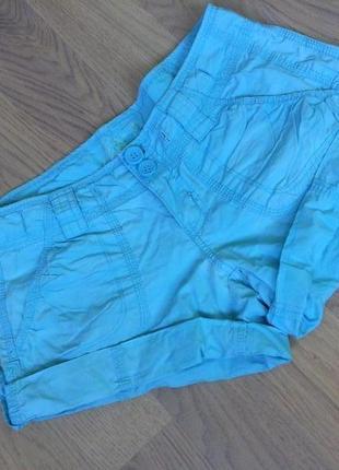 Короткие голубые шорты от new look