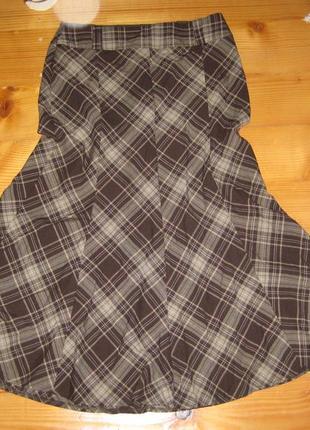 Супер юбка годе  в клетку 12 размер