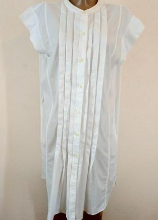 Белоснежная рубашка -туника