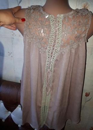 Срочно цена снижена красивая блуза с кружевом