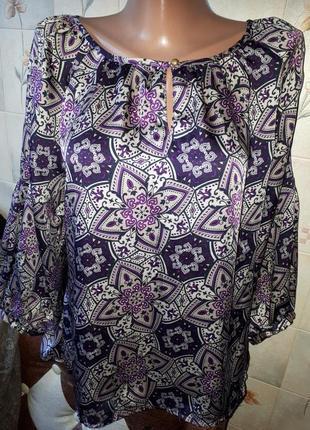 Блуза шелк атлас gap