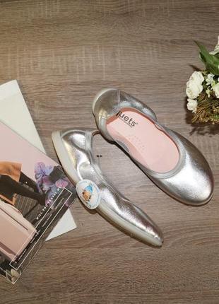 (37р/24см) xiquets! испания! кожа! стильные комфортные туфли, мокасины, балетки1 фото