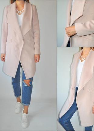 Нежно -розовое пальто next