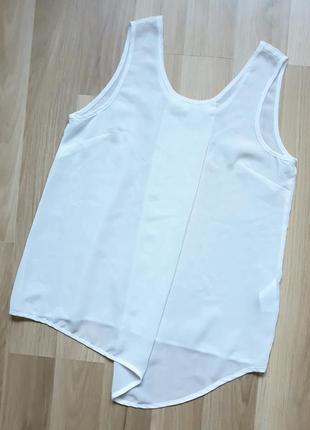 Интересная полу-прозрачная шифоновая маечка блуза топ zalando. размер s
