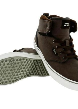 Оригинал кроссовки сникерсы ботинки нубук унисекс  vans atwood hi  размер 34 35