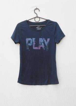 Спортивная трикотажная  футболка  с надписью