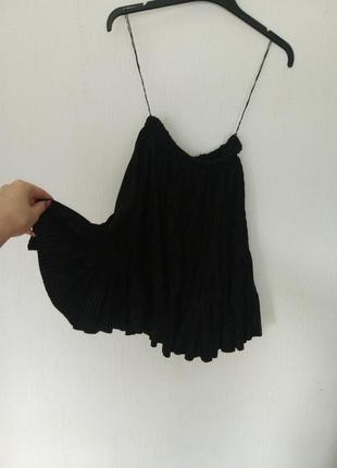 Нарядная вечерняя пышная юбка черная