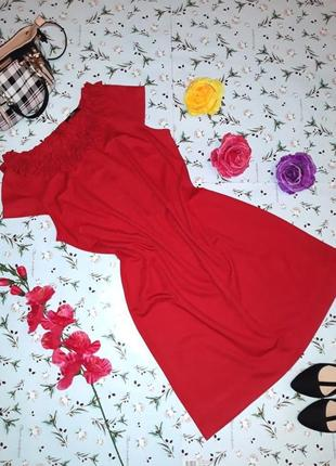 Акция 1+1=3 нарядное красное платье marks&spencer, размер 50 - 52, длина миди