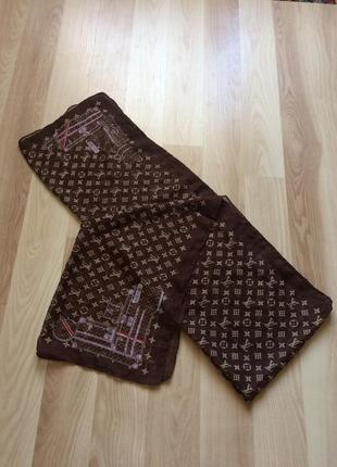 Платок шарф louis vuitton italy 100% silk