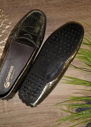 (37р./24см) campago! кожа! италия! стильные туфли, мокасины, лоферы3