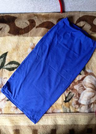 Синяя юбка миди от new look