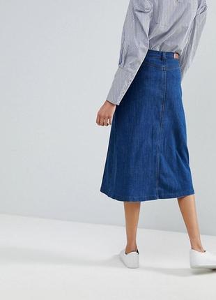 Джинсовая миди юбка cotton traders