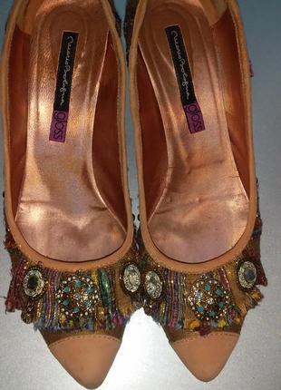 Шикарнейшие туфли с парчой и декором