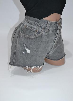 Шорты джинсовые высокая посадка  levis