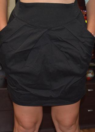 Юбка офисная h&m, короткая юбка