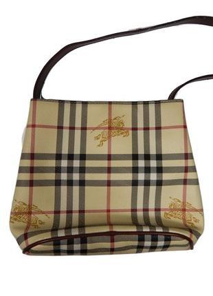 Женская сумка burberry на короткой ручке4 фото