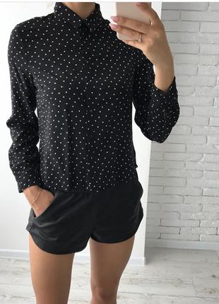 Укороченная блуза рубашка new look