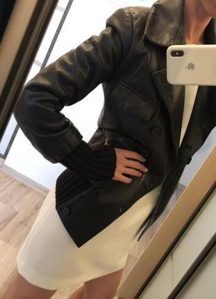Lacoste курточка кожаная
