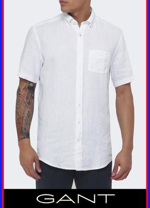 Gant мужская рубашка 100% лён hilfiger paul smith etro