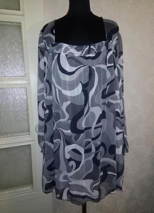Шифоновая блуза большого размера 24-28