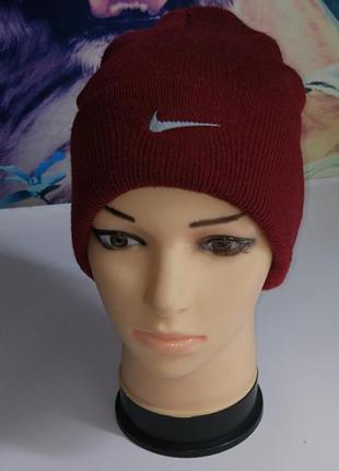 Nike шапка с подворотом,р-р универсальный,унисекс,сток