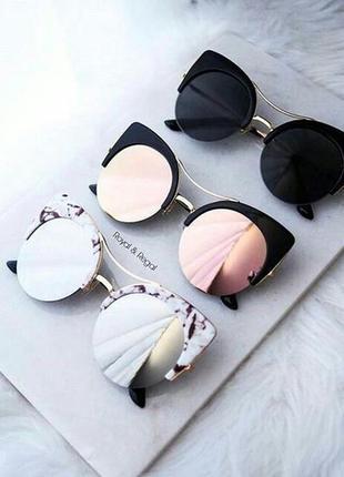 Очки.солнцезащитные очки.cateyes.крруглые очки.кошачьи глазки очки