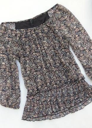 Шифоновая блузка с длинным рукавом vero moda кофта с цветочным принтом