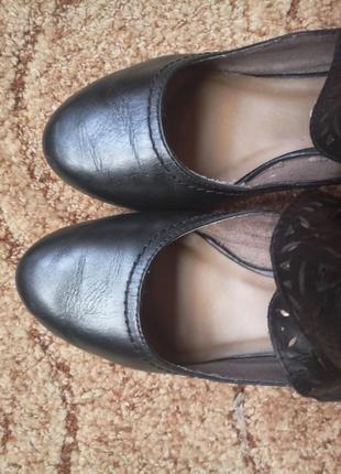 Стильные туфли кожа стелька ~23.5см