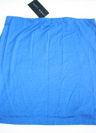 Юбка синяя короткая мини новая с биркой new look 14р (к000)