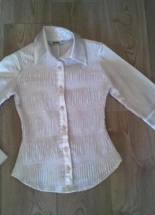 Атласная блуза на 9-10лет