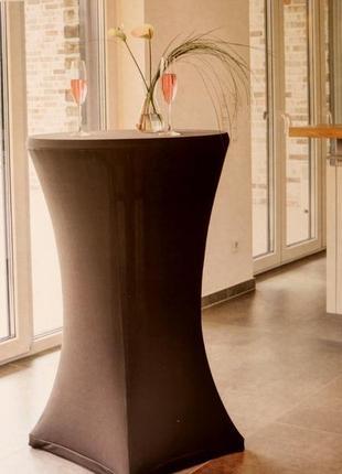 Стрейчевый чехол скатерть для круглого столика tukan германия