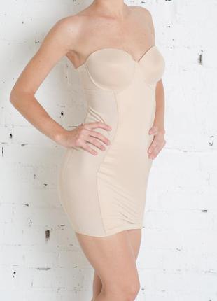M&s marks&spencer бебидол платье утяжка нижнее нюдовое базовое бежевое пеньюар