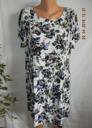 Легкое вискозное платье большого размера f&f