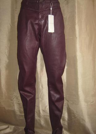 """Кожаные брюки-стрейч """"comma"""", из германии."""