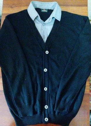 Кардиган-рубашка. обманка. smart-casual.