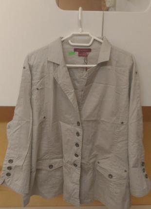 Скидка! натуральная коттоновая легкая куртка большой размер