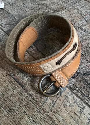 Брендовый кожаный ремень (пояс) от timberland/коричневый/90см