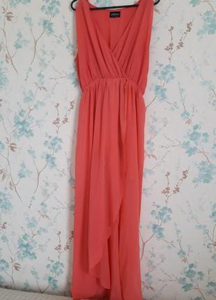 Платье принцессы цвета персик