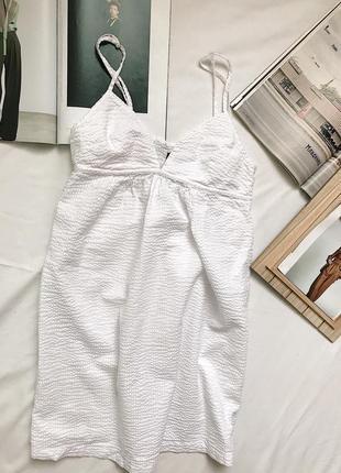 Белое платье, лёгкое платье ,сарафан на бретельках