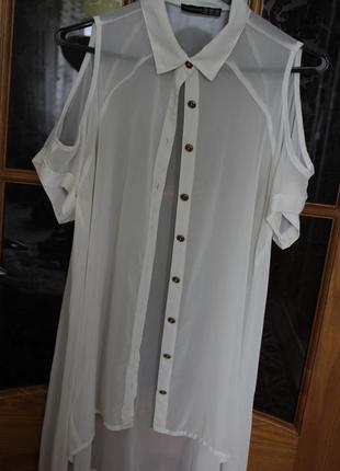 Легкая удлиненная блуза