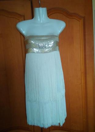 Платье  с пайетками s