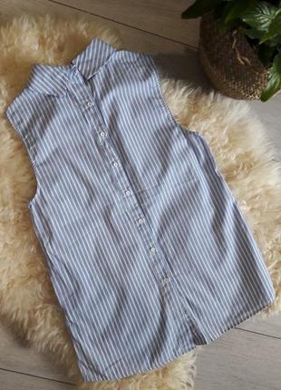 Трендовая рубашка в полоску#котон#блуза