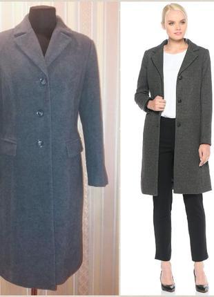 Трендовое, базовое классическое пальто, шерсть и кашемир