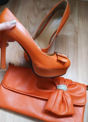 Стильный туфли   клатч в подарок4 фото