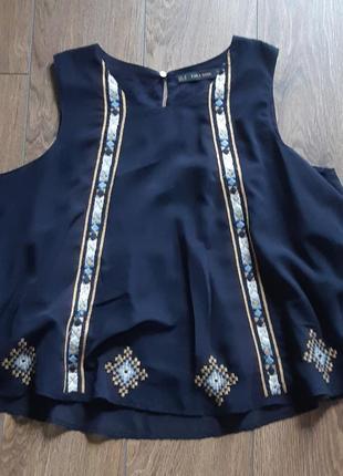Блуза топ zara вышивка